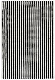 chester eco cotton rug black white