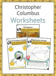 Christopher Columbus Worksheets Facts Information For Kids