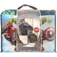 marvel avengers bed in a bag 5 piece twin bedding set with bonus tote com