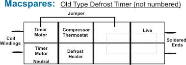 defrost timer 8hr run 30min defrost sankyo 220v macspares here is a diagram of the old type on unmarked defrost timer