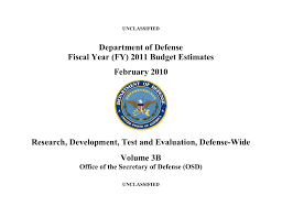 Jpeo Cbd Org Chart Department Of Defense Fiscal Year Fy 2011 Budget Estimates
