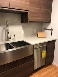 lowe s kitchen countertops see how the new walnut voxtorp doors look in a real ikea