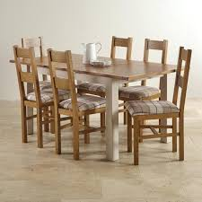 oak table and 6 chairs extending dining set in painted oak table 6 chairs solid oak