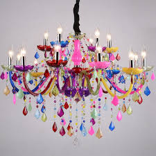 european style romantic coffee bar colorful crystal chandelier restaurant clothing hotel living room bedroom crystal pendant lamps chandelier modern