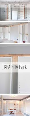ikea office makeover. IKEA Hack With Built-in Billy Bookcases - How We Got An Expensive Library Home Office Look On A Budget. Ikea Makeover B