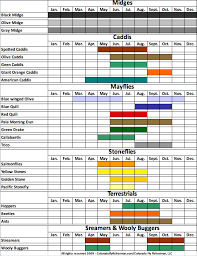 Colorado Monthly Hatch Chart Fly Fishing Basics Fly
