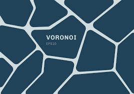 Abstracte Donkerblauwe Voronoi Diagramachtergrond Geometrische