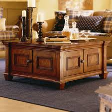 Coffee Tables:Exquisite Square Wooden Coffee Table With Storage Large Brass  Rustic Mission Style Black