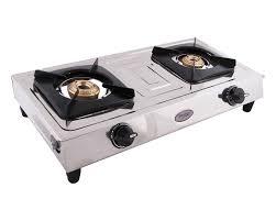 gas stove. 25% Prestige Star Stainless Steel 2 Burner Gas Stove, Metallic Silver Stove