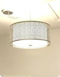 pendant lights remarkable drum lighting fixtures large metal white light silver amusing metal drum