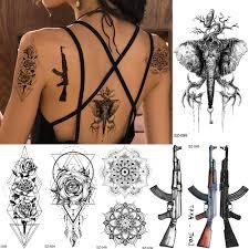 Rejaski маленькая геометрическая женская татуировка наклейка черный