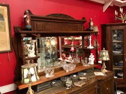 mirrored oak wall shelf gaslamp antiques