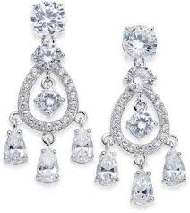 at macy s macy s danori silver tone stone crystal chandelier earrings created for