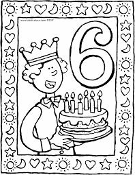 6 Jaar En Een Taart Kiddicolour