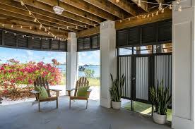 miami under deck patio beach style with corrugated metal exterior cleaners high