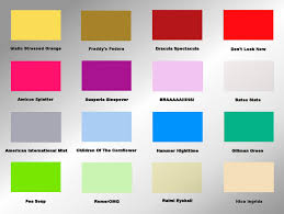 Colors And Moods Chart Paint Color Moods Silmarilli