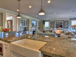 Kitchen Great Room Designs A Large Granite Topped Kitchen Island Adds Plenty Of Functional