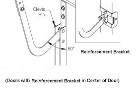 garage door reinforcement bracketIdeal Door 21 Steel Reinforcement Bracket for Overhead Garage