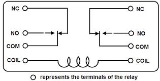 relay coil wiring diagram wiring diagram schematics baudetails dpdt relay wiring diagram