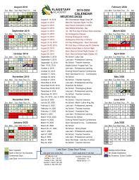 2019 2020 Academic Calendar Grade Levels Academics