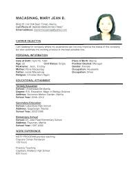 Resume Template Pdf Download Format Of A Resume Writing Resume