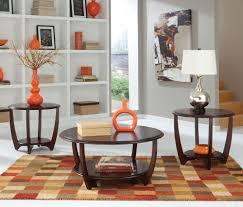 Living Room Furniture Seattle Standard Furniture Seattle Ii 3 Piece Coffee Table Set In Dark