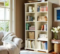 samantha narrow bookcase antique white