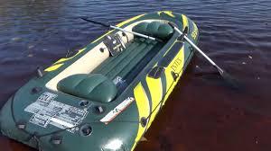 <b>Лодка INTEX SEAHAWK 3</b> и вёсла. - YouTube