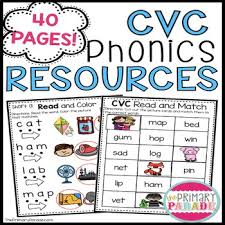 Free printable phonics flashcards,handouts, posters, worksheets, phonics games and other printables to support your phonics lessons and current curriculum. Cvc Phonics Worksheets The Primary Parade