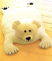 image 0 baby bear rug teddy floor vintage knitting pattern