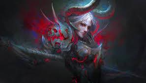 Aesthetic Art Devil Girl Wallpaper ...