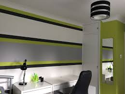 Green And Gray Interior Design Lime Green Grey Boy S Bedroom Lime Green Bedrooms Green