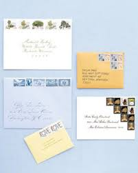 MSW Vintage Stamp Collections Wedding Envelopes
