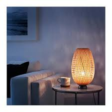 Böja Table Lamp Nickel Plated Bamboo