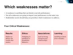 Examples Of Strength And Weakness Self Employee Performance Review Strengths And Weaknesses Examples