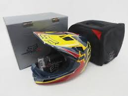 Details About New Fox Rampage Pro Carbon Dh Bicycle Helmet Size L 59 60cm Mips Blue Yellow