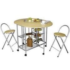 Table De Cuisine Pliable Avec 2 Tabourets Achat Vente Table De
