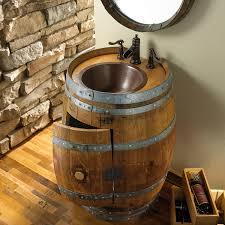 Wine Barrel Kitchen Table Reclaimed Wine Barrel Vanity Wine Enthusiast