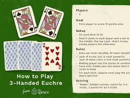 Why isnt (enter your favorite card game here) on your list! Three Handed Euchre Card Game Rules And Strategies