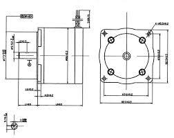 nema 34 step motor 30 0 kg cm 8 wire 86byg450c 05 mechanical dimensions