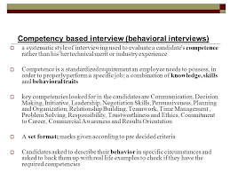 Human Resource Management Competency Based Interviewing Skills