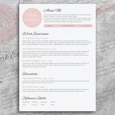 Beautiful Resume Templates Cool Beautiful Resume Design Resume Templates Creative Market