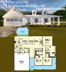 Architectural designs 3 bed modern farmhouse plan 62637dj almost 1900 square feet of awesome