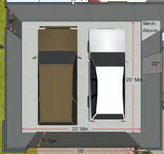 Simple Standard 2 Car Garage Door Size Interior  Home Garage IdeasSize Of A 2 Car Garage