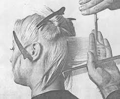 Дипломная работа Современные стрижки мужские и женские волос  4 Выполните оттяжку контрольной пряди под углом 90° и под таким же углом выполните срез