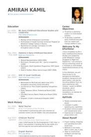Elementary School Teacher Resume Template Word Doc Download , How To ...