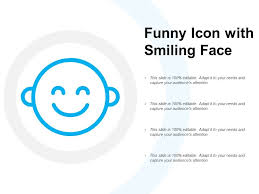 Funny Face Templates Funny Icon With Smiling Face Powerpoint Presentation