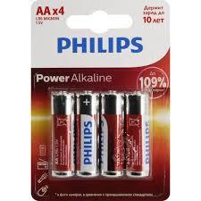 <b>Батарейки AA PHILIPS</b> Power Alkaline LR6P4B / 51 <b>4</b> шт ...