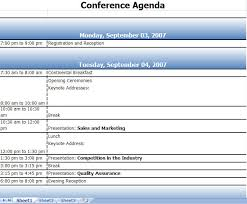 Conference Schedule Excel Template Expin Franklinfire Co