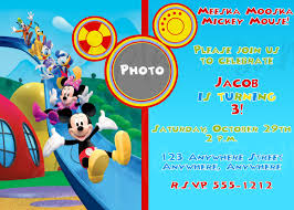 mickey mouse clubhouse birthday invitations net mickey mouse clubhouse birthday invitation birthday party birthday invitations
